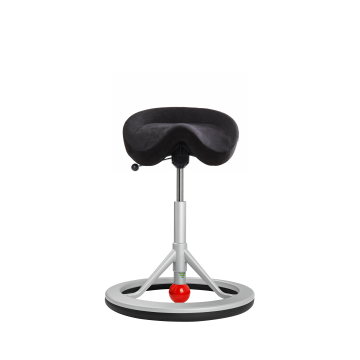 Balance Chair Backapp, Silver Grey, Alcantara Antracite, Red Ball
