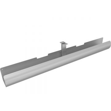 Kabelgoot Ergoproof LiftPipe 1050 mm, Zilver
