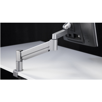 Monitor Arm With Table Clamp ErgoProof Flex, White