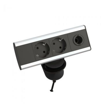 Table Surface-mounting unit socket Ergoproof Power Plus